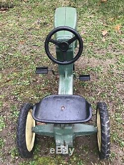 Vintage Original Ertl John Deere Model 520 Pedal Car Tractor Made USA Unrestored