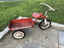 Vintage Original Garton Delivery Cycle. Antique Tricycle Wagon Pedal Car, Rare