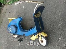 Vintage Original Garton Super Sonda Pedal Chain Drive Scooter Functional