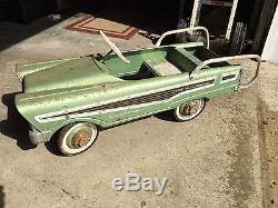 Vintage Original Murray Dude Wagon Pedal Car Light Mint Green