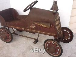 Vintage Original Rare Early 1930s Fire Chief Pedal Car For Restoration