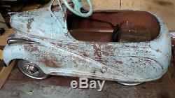 Vintage Pedal Car, 1938 Lincoln Zephyr Steelcraft