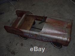 Vintage Pedal Car AMF Hook & Ladder Pumper 519 Fire Truck Original Paint OEM