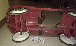 Vintage Pedal Car Antique Fire Truck Classic Toy Engine No. 7 Instep
