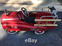 Vintage Pedal Car Antique Texaco Fire Truck Classic by Gearbox