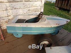 Vintage Pedal Car Boat