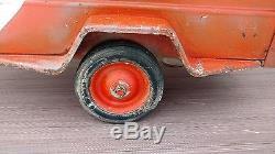 Vintage Pedal Car Pressed Steel Toy U Haul Trailer Early Detailed U-HAUL