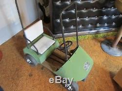 Vintage Pedal Car Rare Golf Cart 35 Long 35 Tall Works LOCAL PICKUP ONLY