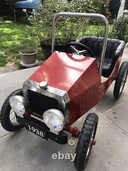 Vintage Pedal Car Replica 1938 Roadster Wow