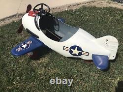 Vintage Pedal Pursuit Airplane Original Murray/steelcraft