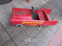 Vintage Pedal Toy Fire Truck