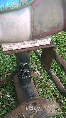 Vintage Pig Playground Spring Ride Gametime SADDLE MATES Springride Porky Pig