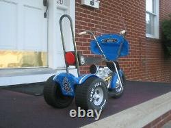 Vintage Pines Traffic Patrol Chopper Trike Motorcycle! Harley Davidson! POLICE