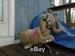 Vintage Playground Gametime Elephant Ride-on Spring Ride Toy