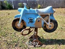 Vintage Playground Spring Ride SADDLE MATES GAMETIME Motorcycle Dirt Bike