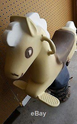 Vintage Playworld Systems Playground Cast Aluminum Horse Ride On Spring Toy