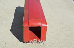 Vintage Pressed Steel Ride On Toy Train Car 24 Long Very Good Condition