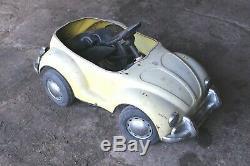 Vintage Prestige Mini Motors VW Volkswagen Beetle Electric Pedal Car AS IS