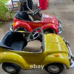 Vintage Prestige Mini Motors VW Volkswagen Beetle Electric Pedal Cars (2) AS IS