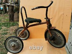 Vintage Primitive Old Bike Bicycle Tricycle Child's Kids Made In Gdr
