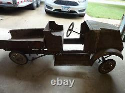 Vintage RARE 1920's Steelcraft Mack Dump Truck Pedal Car