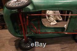 Vintage RARE Jaguar E-Type Plastic Pedal Car Sports Car Steel Wheels