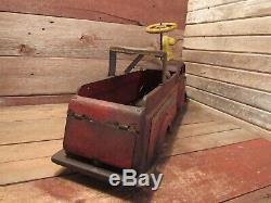 Vintage RARE Large Metal Wyandotte Child Ride-On Toy FIRETRUCK RESTORATION PARTS