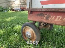 Vintage RARE Radio Rancher Pull Wagon With All 4 Sides