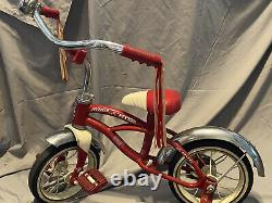 Vintage Radio Flyer Retro Red Tricycle Trike red and white child's toy Model #35