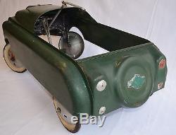 Vintage Rare 1950s AMF Sky Lark Original Pedal Car Chevy Bowtie Nice No Res