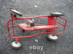 Vintage Rare 1960's Original Murray Red Tot Rod Metal Pedal Car Boys Youth Toy