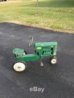 Vintage Rare Eska Ertl Oliver Diesel 880 Checkerboard Farm Pedal Car Tractor Toy
