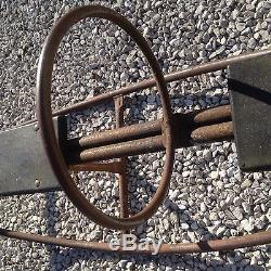 Vintage Rare Industrial Teeter Totter Seesaw Playground Child Toy Wood Seats