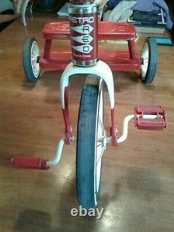 Vintage Retro Radio Flyer Red Tricycle Dpoke Wheels Steel Frame Model 33