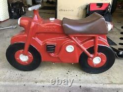Vintage SADDLE MATES ALUMINUM SPRING motorcycle dirt bike Ride On PLAYGROUND toy