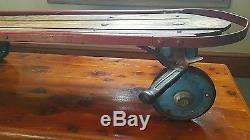 Vintage SL Allen Flexy-Racer Flexible Flyer 300 Sled Blue Wheels