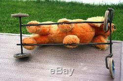 Vintage STEIFF COCKER SPANIEL Ride-On Pull Toy WithMetal Frame Wheels 1950s