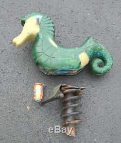 Vintage Seahorse Playground Spring Ride Cast Aluminum