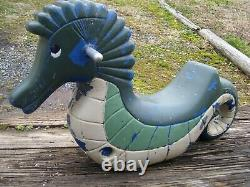 Vintage Seahorse Playground Spring Ride On Toy Cast Aluminum- Mexico Forge
