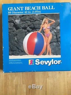 Vintage Sevylor B9 Giant 42 Inflatable Beach Ball Extremely Rare Collectible