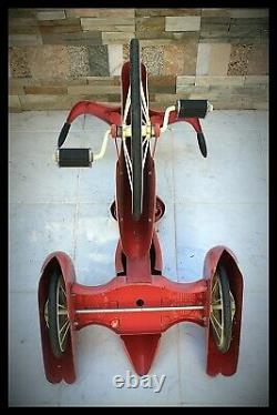 Vintage Sky King Tricycle AFC Airflow Repro 16 Front Wheel Pink PICK-UP ONLY