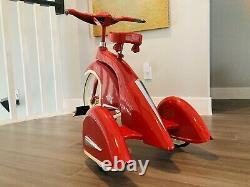 Vintage Sky King Tricycle AFC Airflow Repro 16 Front Wheel Red -VERY RARE