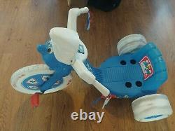 Vintage Smurfs Power Cycle (Big Wheel/Tricycle) 1982 Coleco Super Rare USED