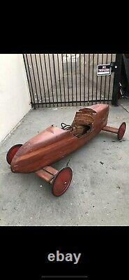 Vintage Soap Box Derby Racer Car Hughes Aircraft 1956
