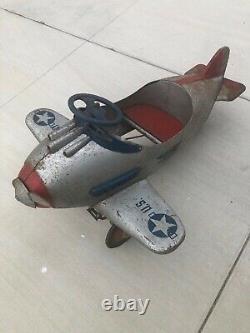 Vintage Steelcraft Army Pursuit Pedal Plane Original