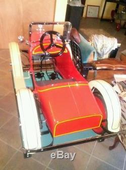 Vintage Steelcraft Cleveland racer pedal car
