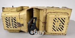 Vintage Structo 5 Airlines Doodle Bug Traffic Control Yellow Ride On car