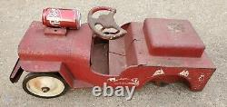 Vintage Structo Jeep Fire Department Pumper Truck No 26 Ride On Toy Junk Yard