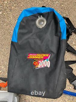 Vintage Super Soaker CPS 3000 + Backpack Water Gun Toy 9798-0 1997 Tested Works