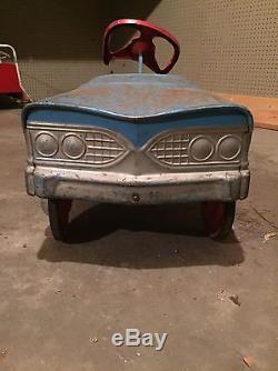Vintage Tee Bird Pedal Car Blue